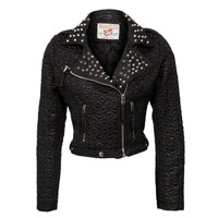 studded leather jacket